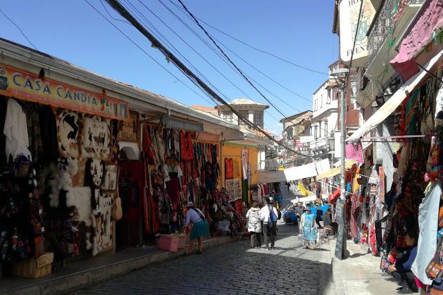 Calle Sagarnaga a La Paz, Bolivia