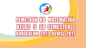 Analisis Pemetaan KD Matematika Kelas 5 SD Semester 2 Kurikulum 2013 Revisi 2017