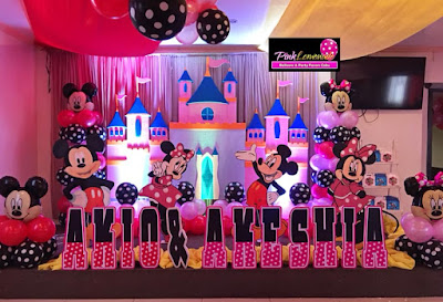 Mickey and Minnie Mouse themed Party