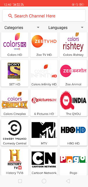 Indian Channels Oreo tv