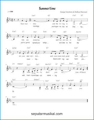 Summertime chords jazz standar