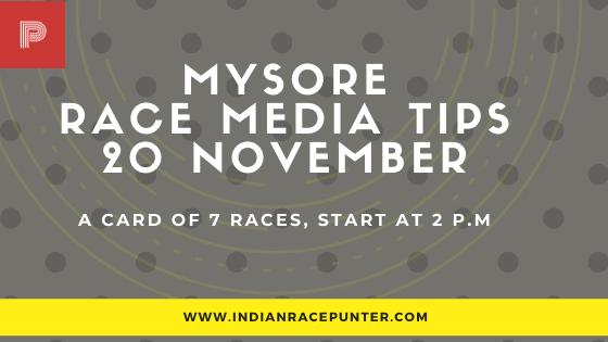 Mysore Race Media Tips 20 November