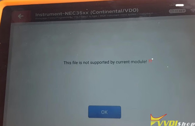 xhorse vw mqb akl file not supported 9