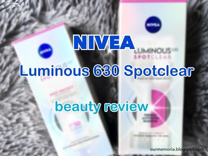 NIVEA LUMINOUS 630 SPOTCLEAR Serum untuk bantu merawat bintik hitam wajah
