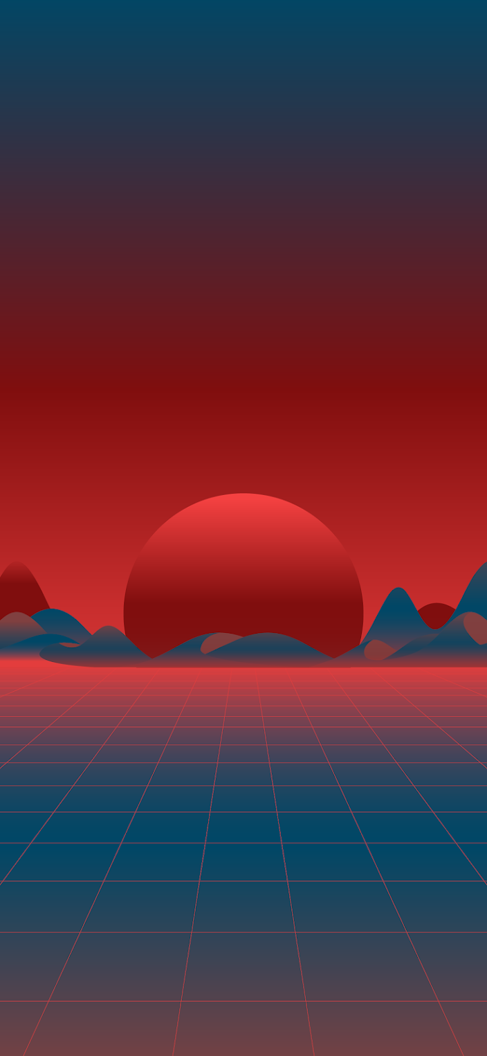 Retro Wave Red And Blue Wallpaper Heroscreen Cool Wallpapers