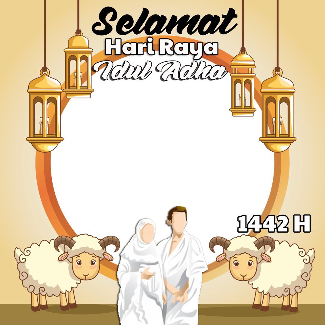 Link Template Frame Bingkai Foto Twibbon Ucapan Selamat Hari Raya Qurban 2021