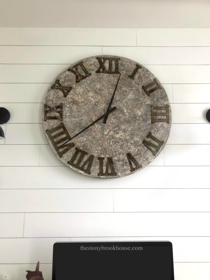 Ugly Concrete finish wall clock