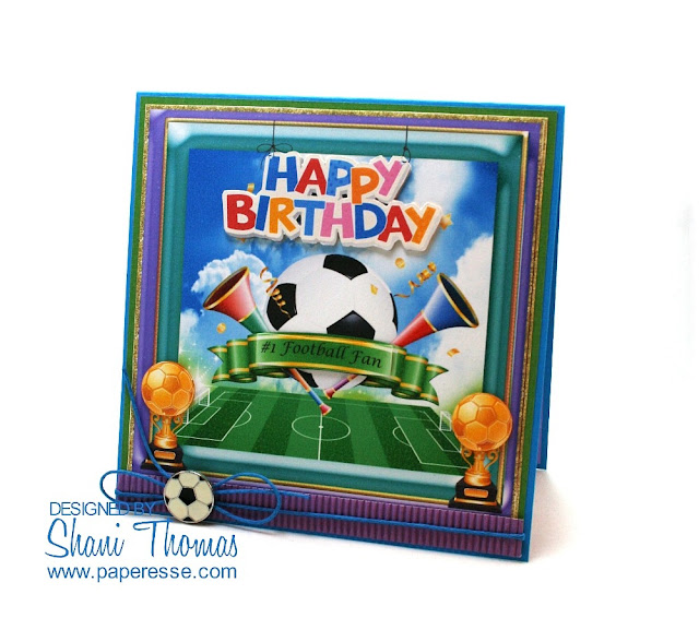 Football Lovers Birthday Card kit from Miss DK Designs, by Paperesse.