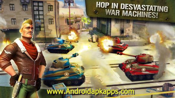 Free Download Blitz Brigade Online FPS fun Apk MOD v2.0.1b Full OBB Data Latest Version Gratis 2015