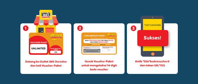 Dial cara memasukkan voucher Indosat IM3