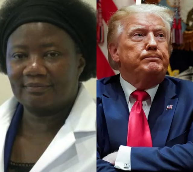 'Why didn't you take chloroquine?' - controversial Nigerian-trained US doctor Stella Immanuel asks Trump