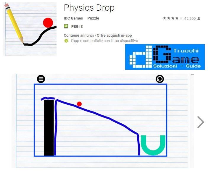 Soluzioni Physics Drop livello 1 2 3 4 5 6 7 8 9 10 | Trucchi e Walkthrough level