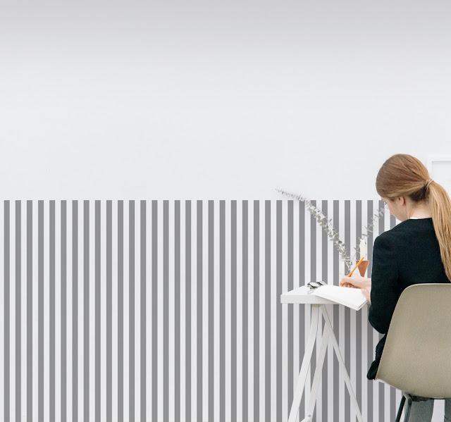 muursticker decoratie lijnen