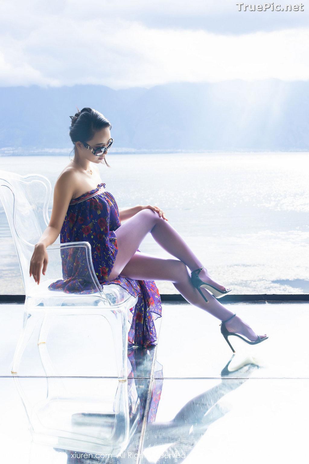 Image XIUREN No.2544 - Chinese Model - 蓝夏Akasha - Purple Queen - TruePic.net - Picture-34
