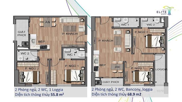 thiết kế căn hộ tecco elite city