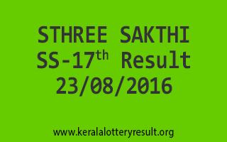23-08-2016 SATURDAY STHREE SAKTHI SS-17 KERALA LOTTERY RESULTS