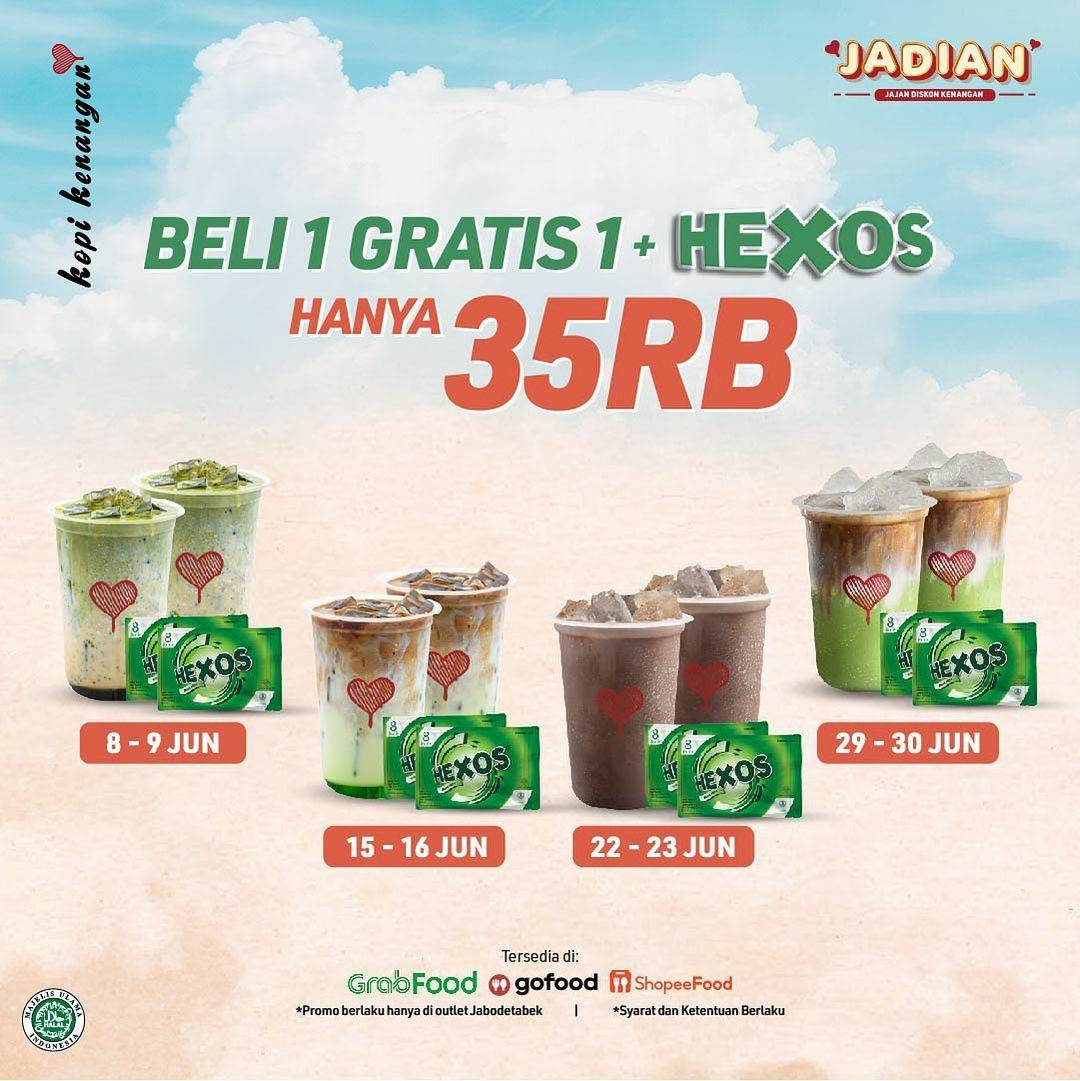 KOPI KENANGAN Promo Beli 1 Gratis 1 + Hexos Hanya Rp. 35.000