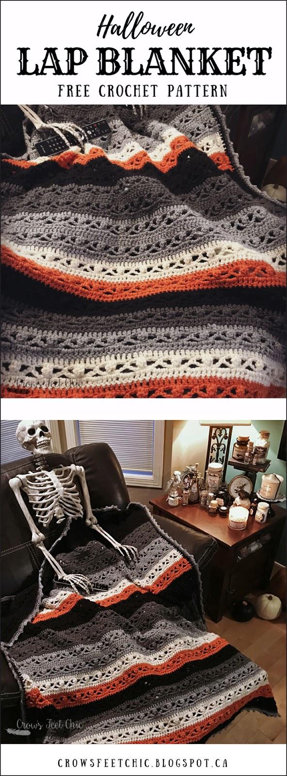 Crochet Halloween Blanket - Free Pattern   Crow\'s Feet Chic