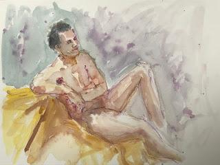 watercolor sketch by Marion Corbin Mayer