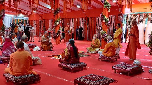 অযোধ্যায় শ্রীরাম মন্দিরের শিলান্যাস করলেন মোদী, নতুন ইতিহাসের সাক্ষী রইল বিশ্ব