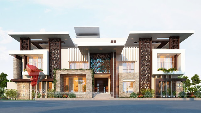 Architectural Visualization company for Building & Bungalow Elevation.