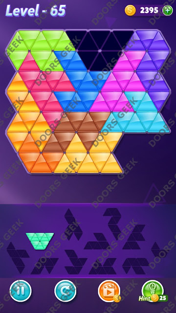 Block! Triangle Puzzle Challenger Level 65 Solution, Cheats, Walkthrough for Android, iPhone, iPad and iPod