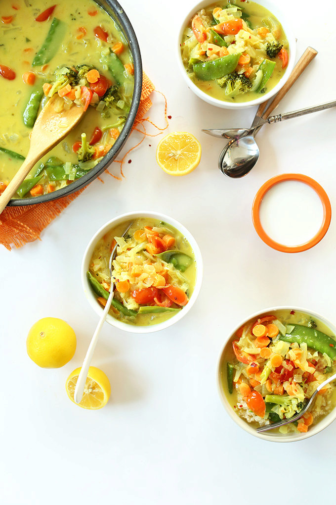 30-MINUTE COCONUT CURRY #coconut #vegetarian #30minute #vegan #soup