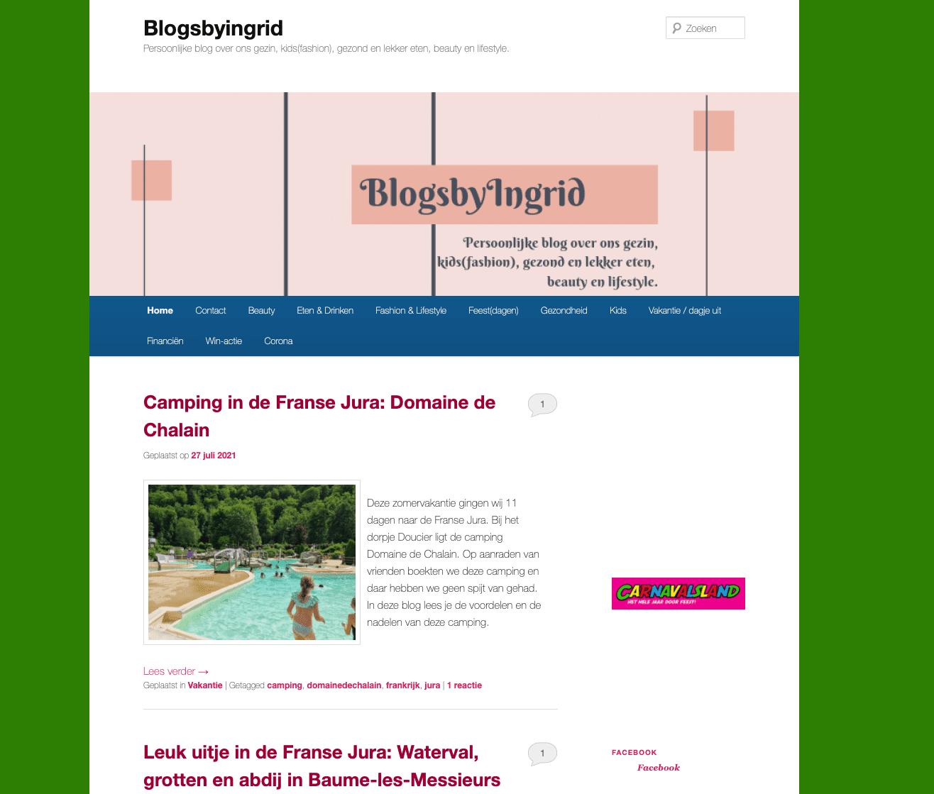 blogs by ingrid