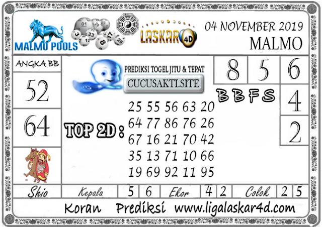 Prediksi Togel Jitu MALMO LASKAR4D 04 NOVEMBER 2019