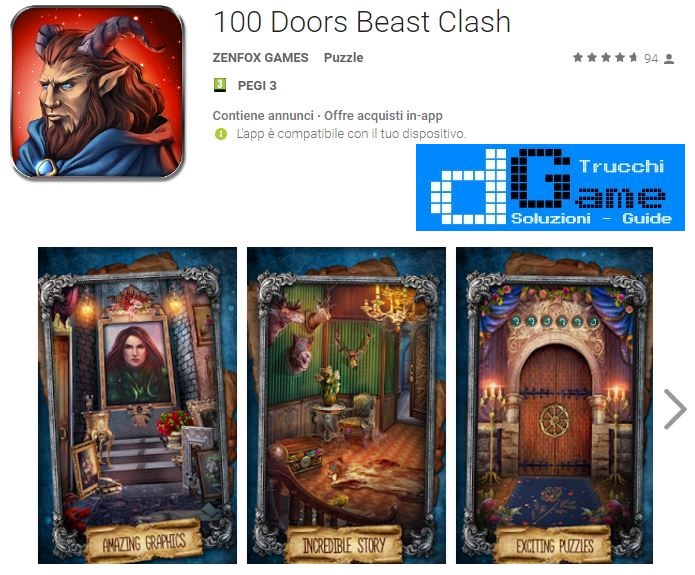 Soluzioni 100 Doors Beast Clash livello 61 62 63 64 65 66 67 68 69 70 | Trucchi e Walkthrough level