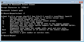 Telnet Help Windows 7