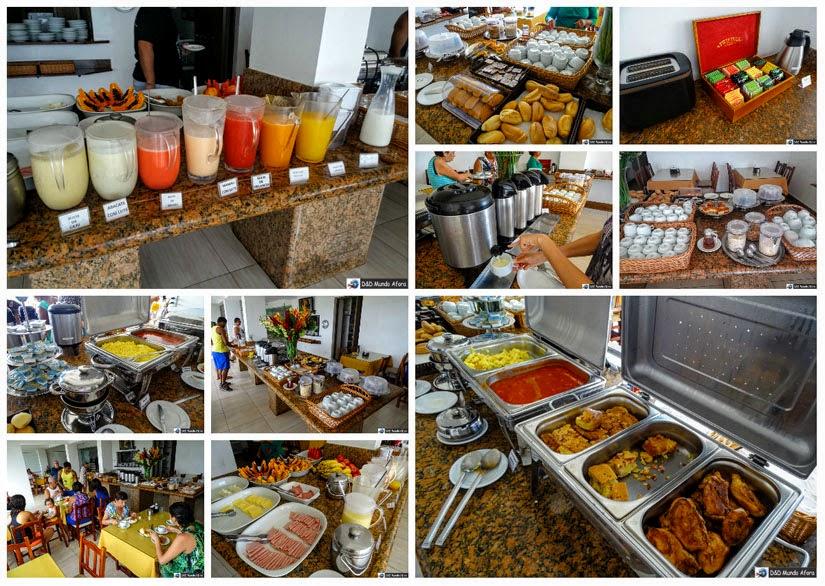 Onde ficar em Cabo Frio (RJ) - Café da manhã do hotel Balneário