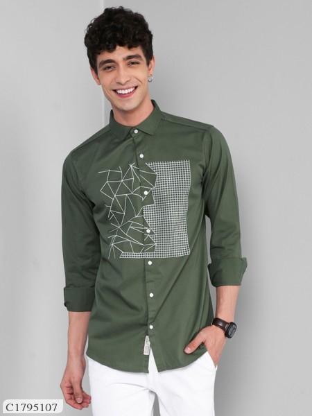 Mens Cotton Plus Size Printed Shirt Online Shopping | Shirts For Men Online Shopping | Men Shirts Online |