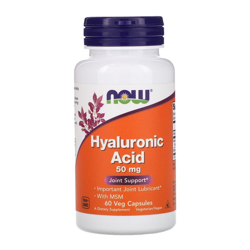 Now Foods, Hyaluronic Acid, 50 mg, 60 Veg Capsules
