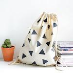 DIY geo printed bag