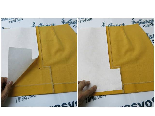 trazado de forro para falda con abertura montada