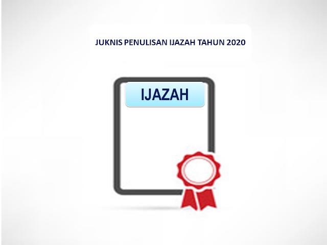 JUKNIS PENULISAN IJAZAH SMP TAHUN 2020