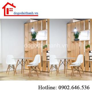 Kệ sách bằng gỗ giá rẻ dùng để ngăn vách phòng khách