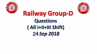 Railway RRB Group D 24th September 2018 Exam Analysis
