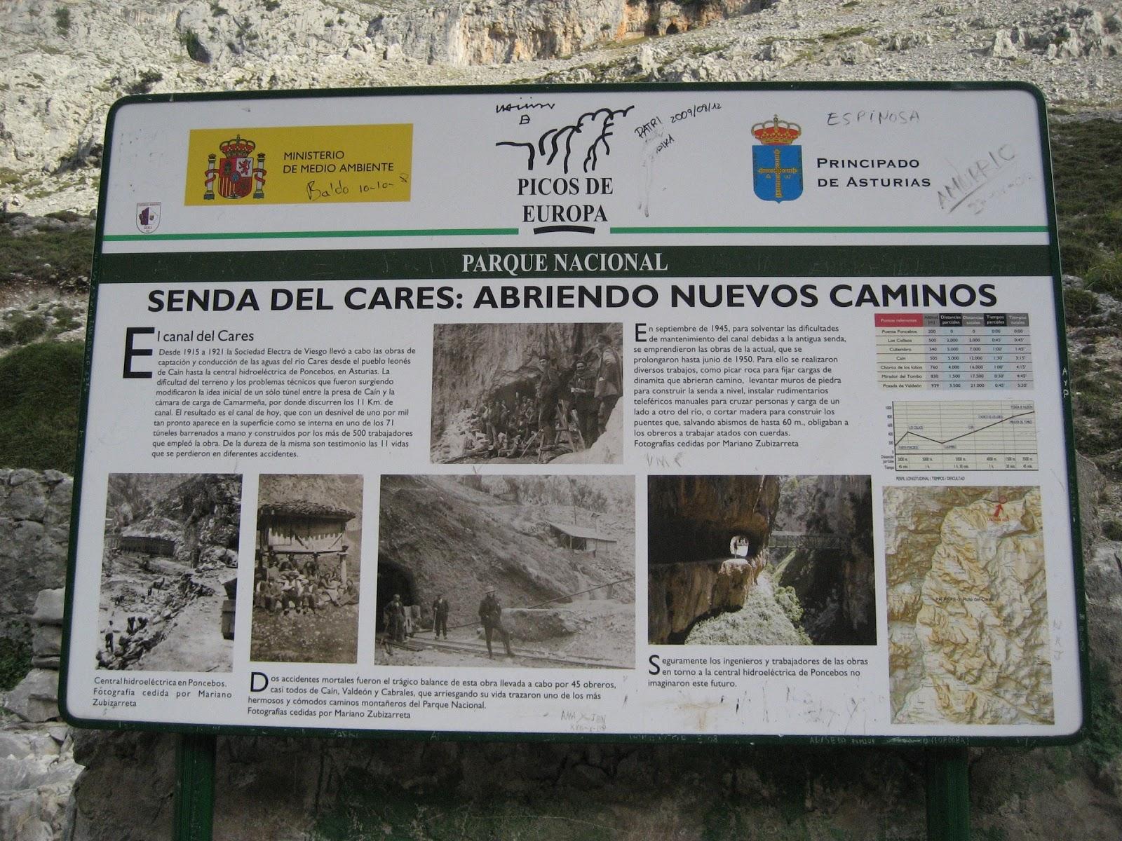 Ruta Del Cares De Poncebos A Caín Ida Y Vuelta