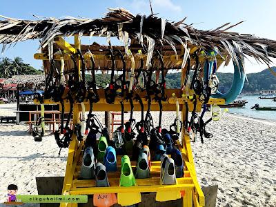 Banyak pilihan pakej snorkeling di Pulau Perhentian