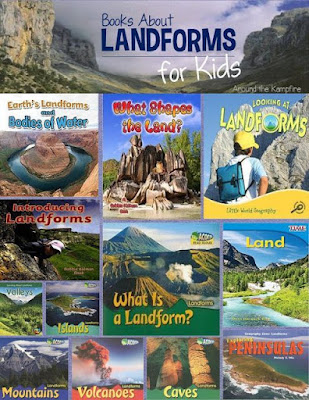 Landform Reading Nonfiction Books- Teaching Landforms:  Hands-on activity ideas for kids, no-prep engaging landform resources, and a FREEBIE landform activity.