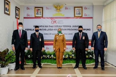 Wagub Saksikan Serah Terima Jabatan dan Pelantikan Kepala OJK Provinsi Lampung