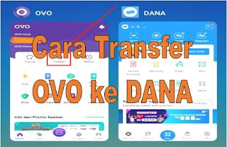 Cara transfer OVO ke DANA tanpa biaya admin, transfer OVO ke DANA gratis, minimal transfer OVO ke DANA