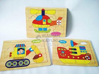 Puzzle Seri 04 Transportasi - Mainan Edukatif   SeButik.com