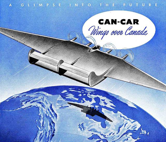 1943 retro-future Canada, Can-Car Wings Over Canada