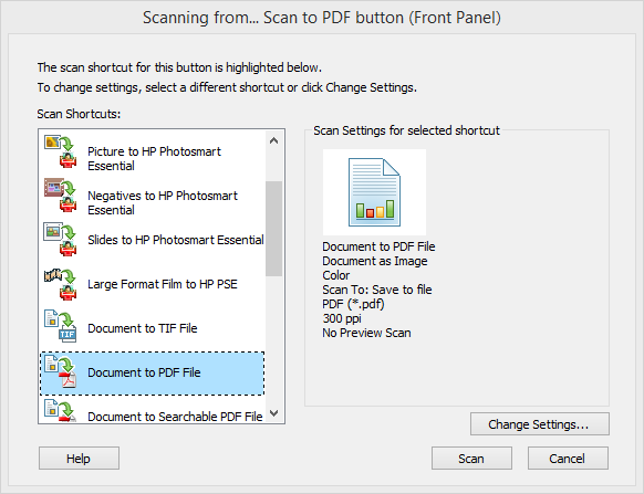 hp scan and capture exe