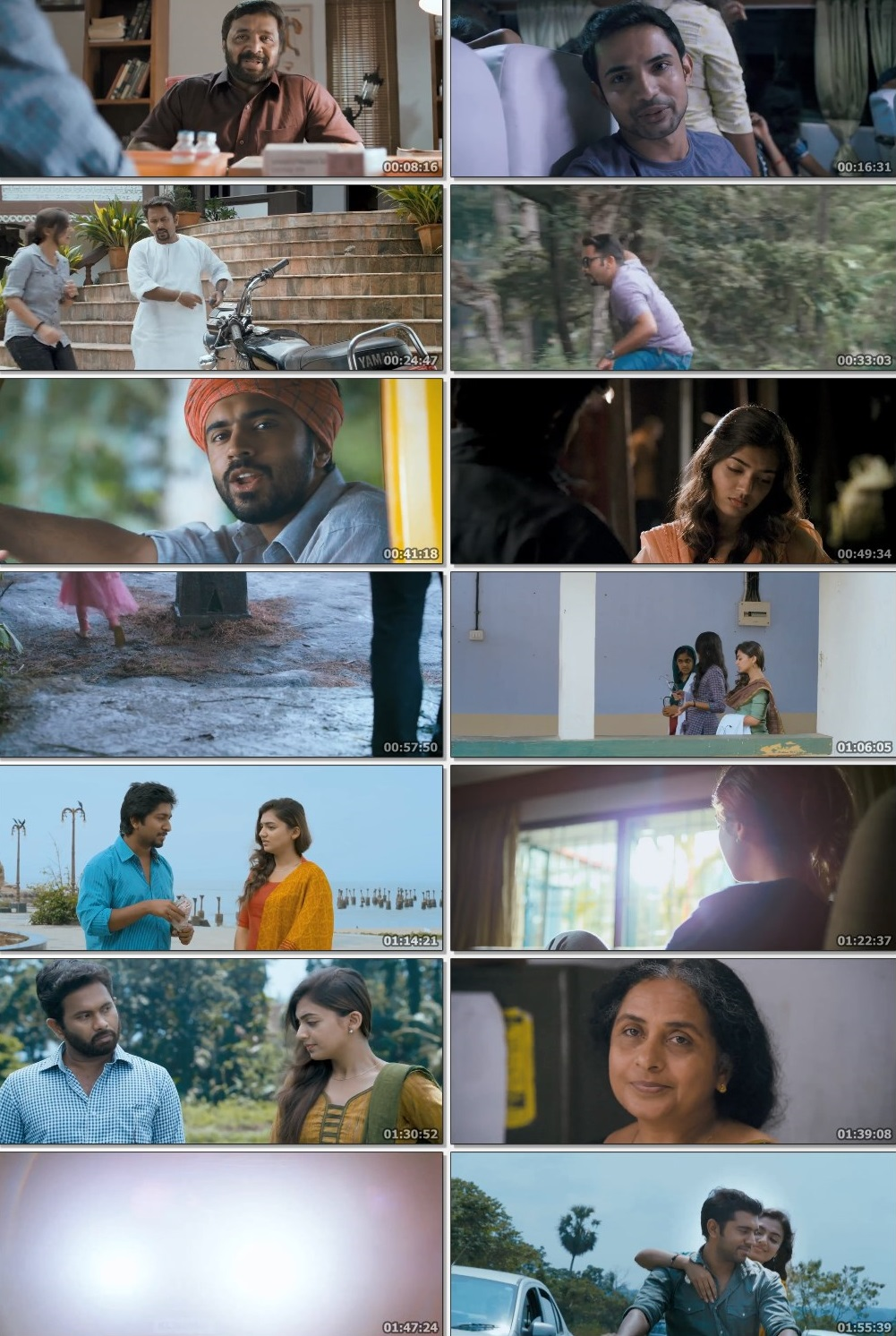 Screen Shot Of Ohm Shanthi Oshaana 2014 300MB Full Movie Hindi Dubbed Free Download 480P BRRip Small Size PC Movie