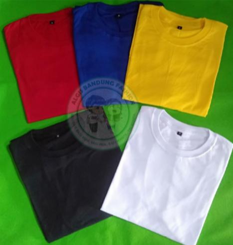 Kaos Polos Distro Cotton Combed 30s Premium