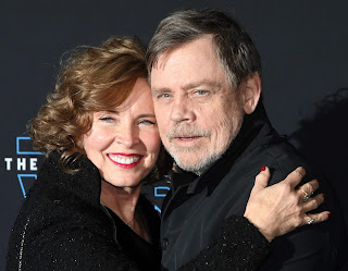 Marilou York with her husband Mark Hamil
